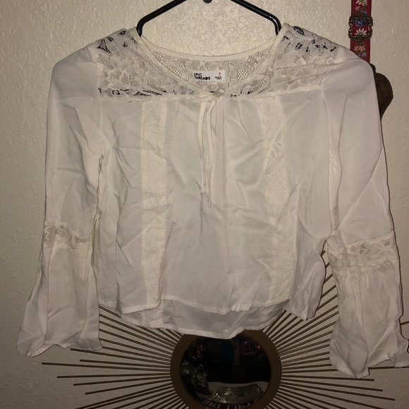 d1f0826d4457 Epic Threads Shirts & Tops | 5 For 23 Lace Detailed Peasant Top ...
